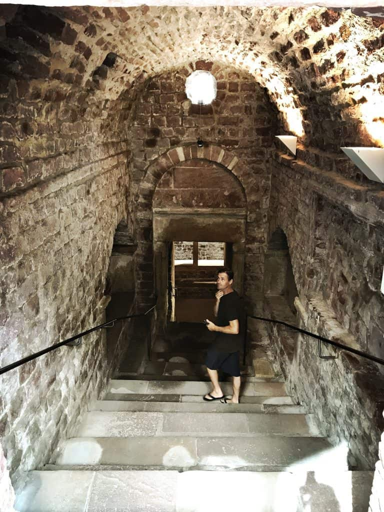 In the Jewish Courtyard, downstairs to the Mikvah
