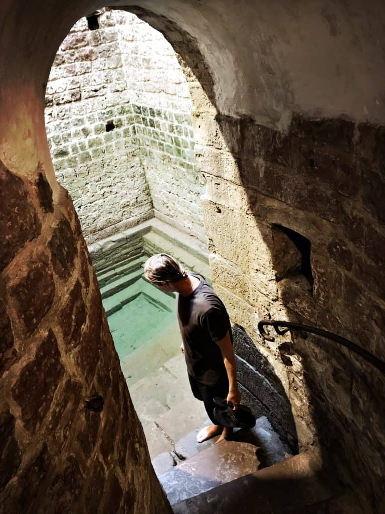 The Mikvah was for ritual washings and located underground next to the old synagogue