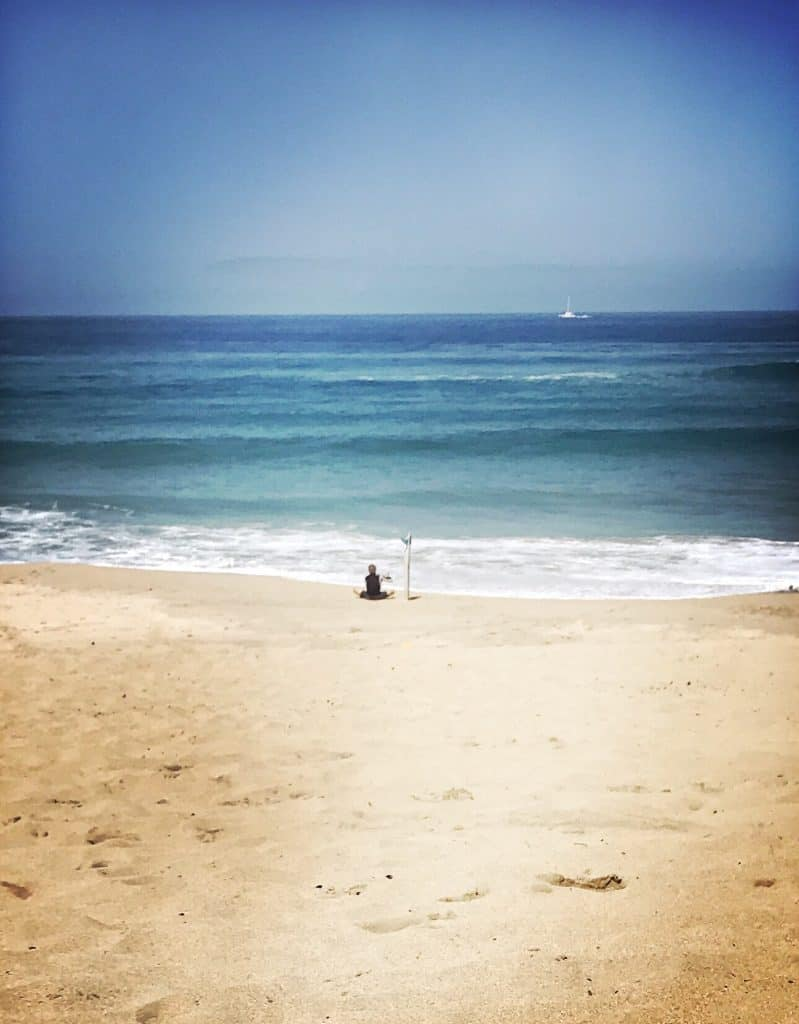 my surfer staring at waves