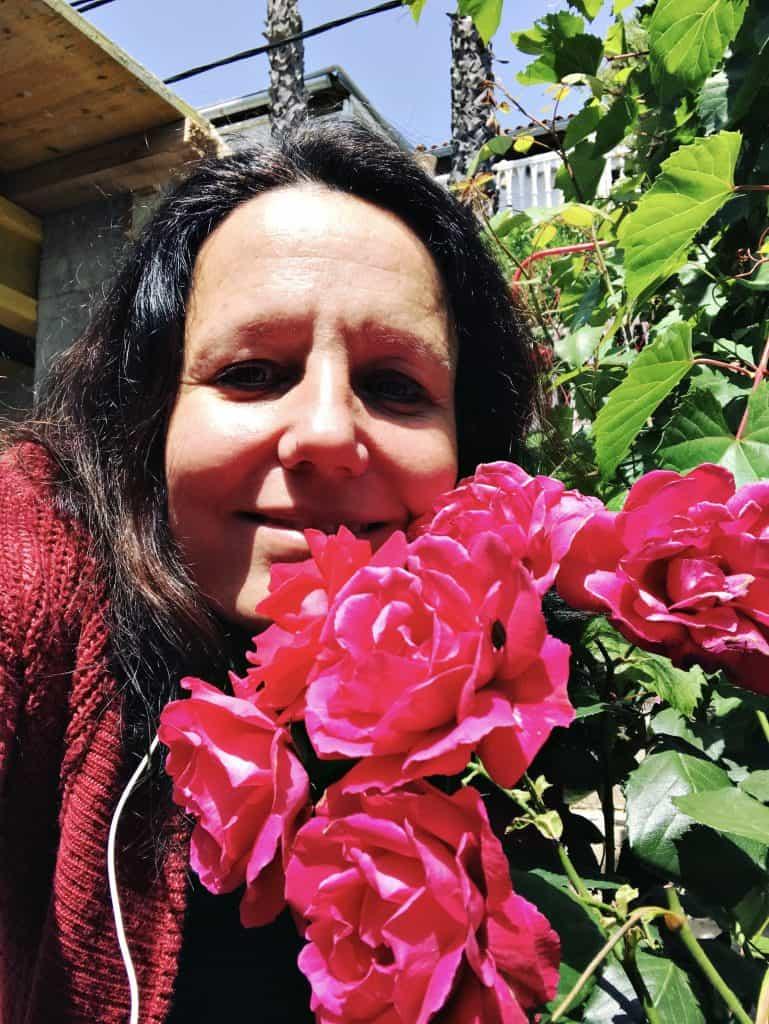I am super happy in my rose garden
